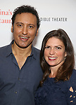 """Aasif Mandvi and director Kimberly Senior attends the Photo Call for  """"Sakina's Restaurant"""" on September 20, 2018 at Feinstein's/54 Below in New York City."""