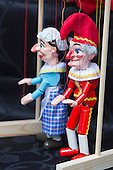 Covent Garden, London, UK. 11 May 2014. Punch & Judy marionettes. The Covent Garden May Fayre and Puppet Festival takes place at St Paul's Church.