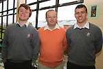 Deputy Principal, John Mansfield with leaving cert Students David Stephenson and Jonathon Dunphy at St. Josephs Secondary School...(Photo credit should read Jenny Matthews www.newsfile.ie)....This Picture has been sent you under the conditions enclosed by:.Newsfile Ltd..The Studio,.Millmount Abbey,.Drogheda,.Co Meath..Ireland..Tel: +353(0)41-9871240.Fax: +353(0)41-9871260.GSM: +353(0)86-2500958.email: pictures@newsfile.ie.www.newsfile.ie.