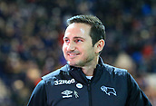 1st February 2019, Deepdale, Preston, England; EFL Championship football, Preston North End versus Derby County; Derby County manager Frank Lampard smiles as he makes his way to the dugout prior to the kick off