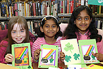 Linda Mackle with Aashna and Arsha Binoy at the Card Making Workshop in The Library...Photo NEWSFILE/Jenny Matthews.(Photo credit should read Jenny Matthews/NEWSFILE)....This Picture has been sent you under the condtions enclosed by:.Newsfile Ltd..The Studio,.Millmount Abbey,.Drogheda,.Co Meath..Ireland..Tel: +353(0)41-9871240.Fax: +353(0)41-9871260.GSM: +353(0)86-2500958.email: pictures@newsfile.ie.www.newsfile.ie.FTP: 193.120.102.198.