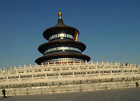 Tourists at The Temple of Heaven complex in Beijing, China. The Temlpe of Heaven is one of the best known and visited tourists attractions in the olympic capital..06 Mar 2008