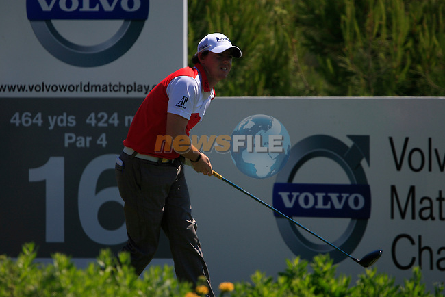 Rory McIlroy (N.IRL) tees off on the 16th tee during the morning session on Day 3 of the Volvo World Match Play Championship in Finca Cortesin, Casares, Spain, 21st May 2011. (Photo Eoin Clarke/Golffile 2011)