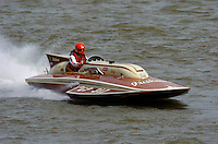 "Bill Fisk, GP-317 ""The Irishman"" 1971 7 Litre/Grand Prix class Lauterbach hydroplane..2004 Madison Regatta, Madison, Indiana, July 4, 2004..F. Peirce Williams .photography.P.O.Box 455 Eaton, OH 45320.p: 317.358.7326  e: fpwp@mac.com."