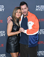 "10 June 2019 - Westwood, California - Jennifer Aniston, Adam Sandler. Netflix's ""Murder Mystery"" Los Angeles Premiere held at Regency Village Theater. Photo Credit: Birdie Thompson/AdMedia"