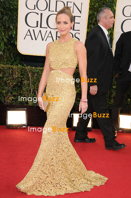 1/13/13.Emily Blunt at the 70th Annual Golden Globe Awards..(Beverly Hills, CA)