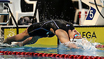 Bobbi Gichard, 100m Backstroke during the New Zealand Open Swimming Championships, Owen G Glenn National Aquatic Centre, Auckland, New Zealand. Thursday 31 March 2016 Photo: Simon Watts / www.bwmedia.co.nz