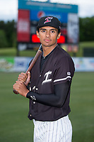 Kannapolis Intimidators outfielder Joel Booker (23) poses for a photo prior to the game against the Asheville Tourists at Kannapolis Intimidators Stadium on May 6, 2017 in Kannapolis, North Carolina.  The Intimidators walked-off the Tourists 7-6.  (Brian Westerholt/Four Seam Images)