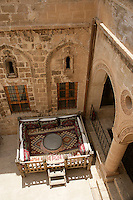 Traditional sitting platform or 'taht' in Mardin, southeastern Turkey