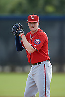 Washington Nationals pitcher Phil Morse (37) doing pitching drills before a Minor League Spring Training game against the Miami Marlins on March 28, 2018 at FITTEAM Ballpark of the Palm Beaches in West Palm Beach, Florida.  (Mike Janes/Four Seam Images)
