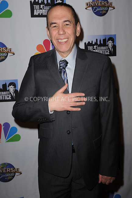 WWW.ACEPIXS.COM<br /> February 16, 2015 New York City<br /> <br /> Gilbert Gottfried arriving to the Celebrity Apprentice Finale viewing party and post show red carpet on February 16, 2015 in New York City.<br /> <br /> Please byline: Kristin Callahan/AcePictures<br /> <br /> ACEPIXS.COM<br /> <br /> Tel: (646) 769 0430<br /> e-mail: info@acepixs.com<br /> web: http://www.acepixs.com