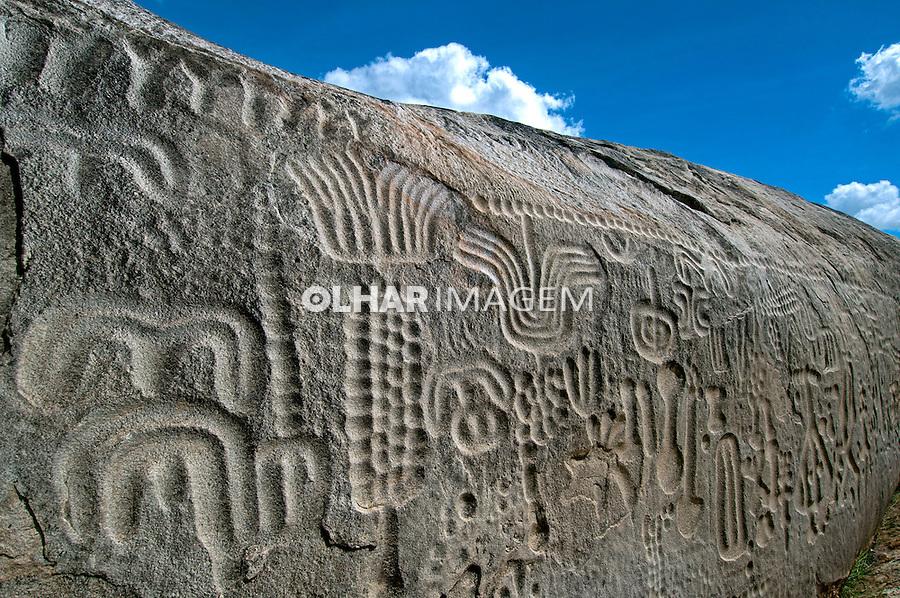 Sitio Arqueologico Pedra do Inga no municipio de Inga. Paraiba. 2015. Foto de Joao Urban.