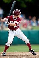 STANFORD, CA - April 23, 2011: Brian Guymon of Stanford baseball bats during Stanford's game against UCLA at Sunken Diamond. Stanford won 5-4