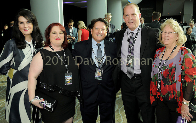 From left: Sandra Torres, Susan Chapman, Steve Wilson, Larry Seidl and Terri Seidl at the grand-opening reception at the Smart Financial Centre in Sugar Land Saturday Jan. 14, 2017.(Dave Rossman photo)