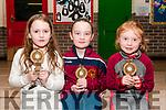 Duagh-Lyre Community Games Awards Night: Pictured at the Duagh-Lyre Community Games awards night at Duagh NS on Friday night last were County Kerry winners Sadie Duffy, Olivia O'Brien & Caoimhe Fitzgerald.