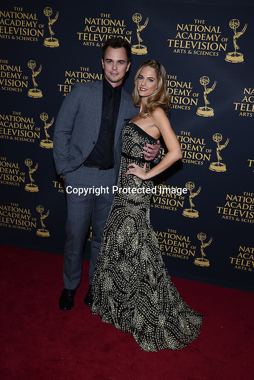 Darin Brooks and Kelly Kruger attend the Creative Arts Emmy Awards on April 24, 2015 at the Universal l Hilton in Universal City,<br /> California, USA.