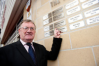 Saturday 19 October 2013<br /> Pictured:<br /> Re: More names of players are unveiled at the Robbie James Memorial outside the Liberty Stadium, Swansea