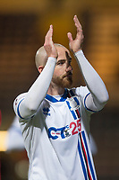 4th January 2020; Dens Park, Dundee, Scotland; Scottish Championship Football, Dundee FC versus Inverness Caledonian Thistle; James Vincent of Inverness Caledonian Thistle applauds the fans at the end of the match - Editorial Use