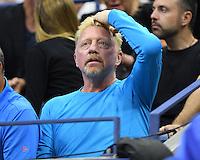 FLUSHING NY- SEPTEMBER 06: Boris Becker is seen watching Novak Djokovic Vs Jo Wilfred Tsonga on Arthur Ashe Stadium at the USTA Billie Jean King National Tennis Center on September 6, 2016 in Flushing Queens. Credit: mpi04/MediaPunch