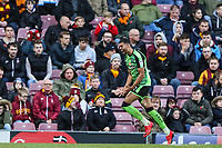 Jake Jervis of Plymouth Argyle celebrates scoring the first goal of the game during the Sky Bet League 1 match between Bradford City and Plymouth Argyle at the Northern Commercial Stadium, Bradford, England on 11 November 2017. Photo by Thomas Gadd.