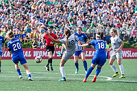 Boston, MA - Saturday June 24, 2017: Ashley Hatch and Tiffany Weimer during a regular season National Women's Soccer League (NWSL) match between the Boston Breakers and the North Carolina Courage at Jordan Field.