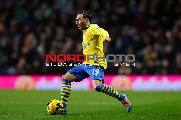 Arsenal Midfielder Santi Cazorla (ESP) in action during the second half of the match -  - 13/01/2014 - SPORT - FOOTBALL - Villa Park, Birmingham - Aston Villa v Arsenal  - Barclays Premier League.<br /> Foto nph / Meredith<br /> <br /> ***** OUT OF UK *****