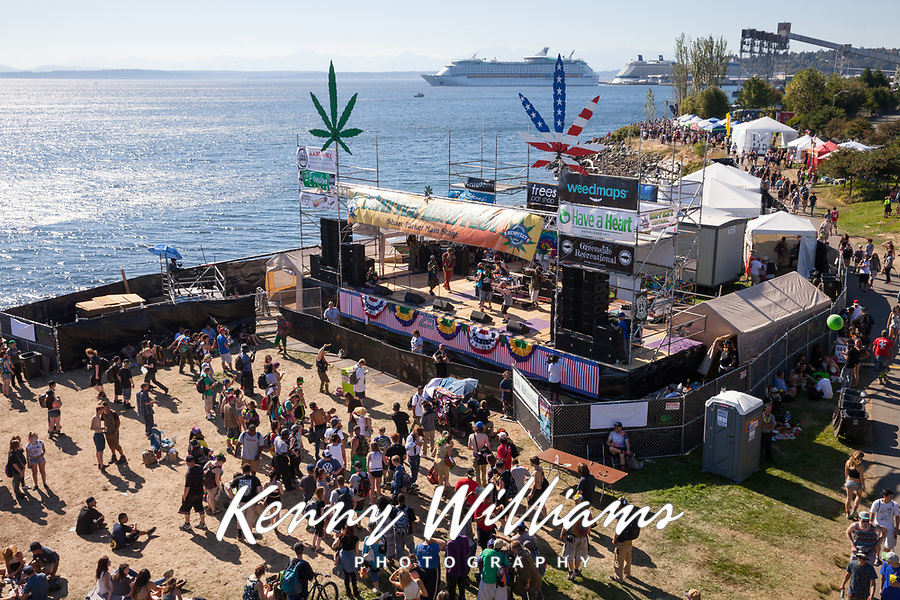 Main Stage, Hempfest 2016, Seattle, WA, USA.
