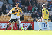 Port Vale's Jerome Thomas holds off the challenge from Bolton Wanderers' Dorian Dervite<br /> <br /> Photographer Stephen White/CameraSport<br /> <br /> The EFL Sky Bet League One - Port Vale v Bolton Wanderers  - Saturday 22nd April 2017 - Vale Park - Burslem<br /> <br /> World Copyright &copy; 2017 CameraSport. All rights reserved. 43 Linden Ave. Countesthorpe. Leicester. England. LE8 5PG - Tel: +44 (0) 116 277 4147 - admin@camerasport.com - www.camerasport.com