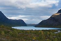 Lake Kaitumjaure, Kungsleden trail, Lapland, Sweden