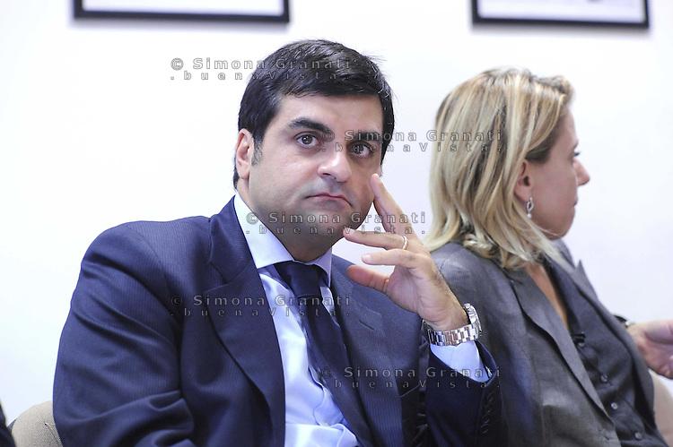 Roma Ottobre 2009.Luca Palamara presidente dell'Associazione nazionale magistrati nella sede del quotidiano L'Unità.