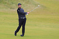 Jon Rahm (ESP) on the 4th fairway during Round 2 of the Alfred Dunhill Links Championship 2019 at Kingbarns Golf CLub, Fife, Scotland. 27/09/2019.<br /> Picture Thos Caffrey / Golffile.ie<br /> <br /> All photo usage must carry mandatory copyright credit (© Golffile | Thos Caffrey)
