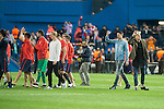 Atletico de Madrid's players celebrating the victory during Champions League 2015/2016 Quarter-Finals 2nd leg match. April 13, 2016. (ALTERPHOTOS/BorjaB.Hojas)