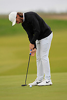 Tommy Fleetwood (ENG) on the 4th green during Round 2 of the Alfred Dunhill Links Championship 2019 at Kingbarns Golf CLub, Fife, Scotland. 27/09/2019.<br /> Picture Thos Caffrey / Golffile.ie<br /> <br /> All photo usage must carry mandatory copyright credit (© Golffile | Thos Caffrey)