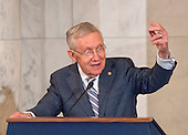 United States Senate Minority Leader Harry Reid (Democrat of Nevada) makes remarks at the ceremony where his official portrait is to be unveiled in the Kennedy Caucus Room on Capitol Hill in Washington, DC on Thursday, December 8, 2016.<br /> Credit: Ron Sachs / CNP