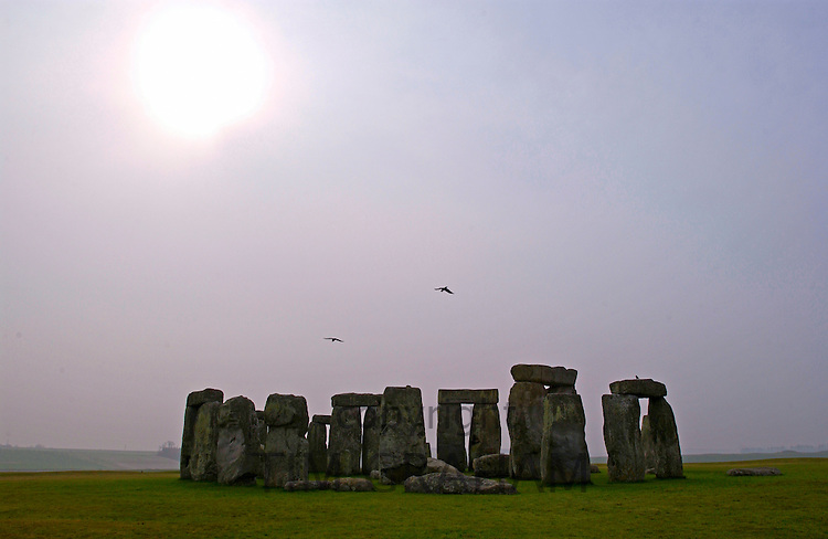 Stonehenge, Salisbury Plain in Wiltshire, UK attracts crowds on the longest day.