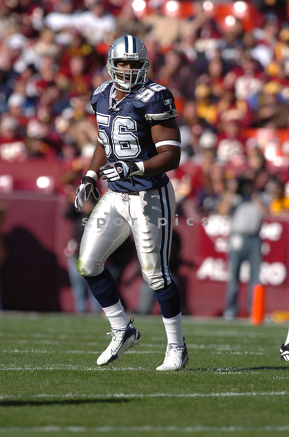 BRADIE JAMES, of the Dallas Cowboys ,during their game against  the  Washington Redskins on Novmeber 05, 2006 in Washington D.C....Redskins win 22-19..Tomasso DeRosa / SportPics