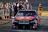 Feb 29, 2008; Las Vegas, NV, USA; NASCAR Sprint Cup Series driver Juan Pablo Montoya during qualifying for the UAW Dodge 400 at Las Vegas Motor Speedway. Mandatory Credit: Mark J. Rebilas-