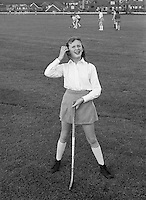 Going out for hockey on the school field, Whitworth Comprehensive School, Whitworth, Lancashire.  1970.