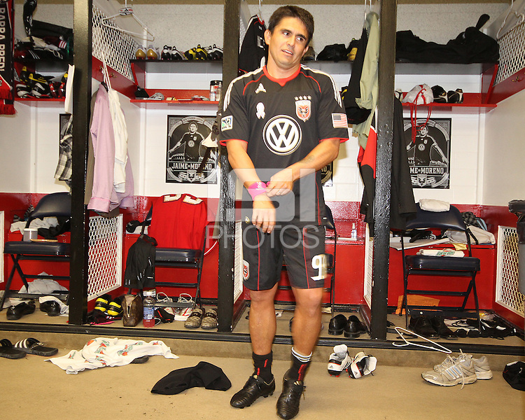 The final appearance of Jaime Moreno in a D.C. United uniform, at RFK Stadium, in Washington D.C. on October 23, 2010.