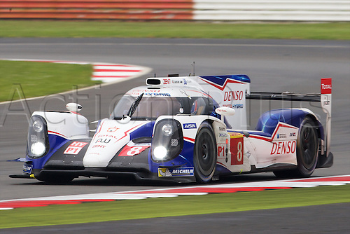 20.04.2014 Silverstone, England. TOYOTA RACING Toyota TS 040-Hybrid LMP1 driven by Anthony Davidson (GBR), Nicolas Lapierre (FRA) and Sebastien Buemi (CHE) during round 1 of the World Endurance Championship from Silverstone.