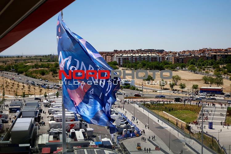 A flag of final before the UEFA Champions League match, Final Roundl between Tottenham Hotspur FC and Liverpool FC at Wanda Metropolitano Stadium in Madrid, Spain. June 01, 2019.(Foto: nordphoto / Alterphoto /Manu R.B.)