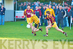 Listowel's Derek Glavin and Daugh's Aengus Carmody..