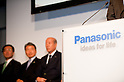 October 1, 2012, Tokyo, Japan - Panasonic holds a press conference at its head office in Tokyo, Japan. Panasonic announced its unique, safe and secure energy solutions and innovative ways of energy use to be employed in the town that is anticipated toserve as an advanced model of new lifestyles.(Photo by Yumeto Yamazaki/AFLO)