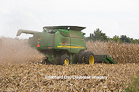 63801-07101 Farmer harvesting corn, Marion Co., IL