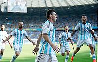 FUSSBALL WM 2014  VORRUNDE    GRUPPE F     Argentinien - Iran                         21.06.2014 JUBEL;  Lionel Messi (Argentinien)  bejubelt seinen Treffer zum 1:0 mit Team