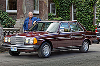2019 08 23 1979 Mercedes W123 300 Turbo Diesel, at Gliffaes Hotel near Abergavenny, Wales, UK