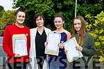 Killarney Presentation girls celebrate their Leaving Cert results with their Prinicipal on wednesday l-r: Lisa O'Leary Killarney, Roisin Moore Principal, Elaina Norris Firies,  Ciara McGlynn Kilcummin