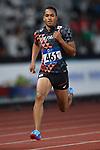 Aska Cambridge (JPN), <br /> AUGUST 26, 2018 - Athletics : Men's 100m Semi-final at Gelora Bung Karno Main Stadium during the 2018 Jakarta Palembang Asian Games in Jakarta, Indonesia. <br /> (Photo by MATSUO.K/AFLO SPORT)