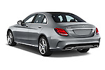 Car pictures of rear three quarter view of a 2018 Mercedes Benz C-Class C300 Sport 4 Door Sedan Angular Rear