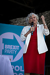 Former Conservative party government minister Ann Widdecombe speaking on stage at a Brexit Party event in Chester, Cheshire. The keynote speech was given by the Brexit Party leader Nigel Farage MEP. The event was attended by around 300 people and was one of the first since the formation of the Brexit Party by Nigel Farage in Spring 2019.